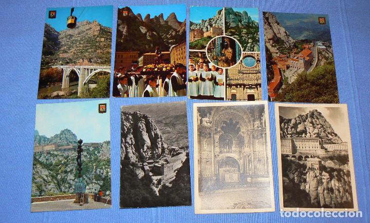 Postales: LOTE DE 77 POSTALES + 1 LIBRILLO DE MONTSERRAT - Foto 2 - 146136554