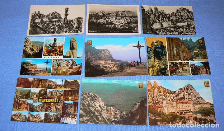 Postales: LOTE DE 77 POSTALES + 1 LIBRILLO DE MONTSERRAT - Foto 3 - 146136554