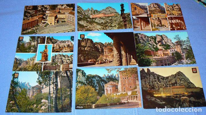Postales: LOTE DE 77 POSTALES + 1 LIBRILLO DE MONTSERRAT - Foto 4 - 146136554