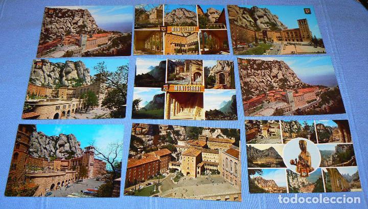 Postales: LOTE DE 77 POSTALES + 1 LIBRILLO DE MONTSERRAT - Foto 6 - 146136554