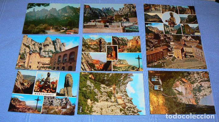 Postales: LOTE DE 77 POSTALES + 1 LIBRILLO DE MONTSERRAT - Foto 8 - 146136554