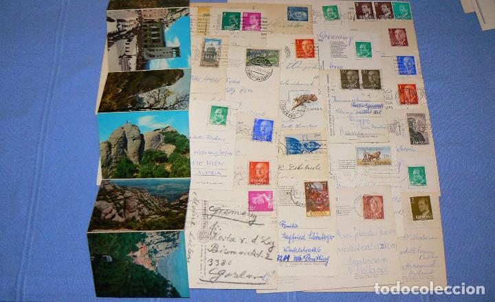 Postales: LOTE DE 77 POSTALES + 1 LIBRILLO DE MONTSERRAT - Foto 10 - 146136554