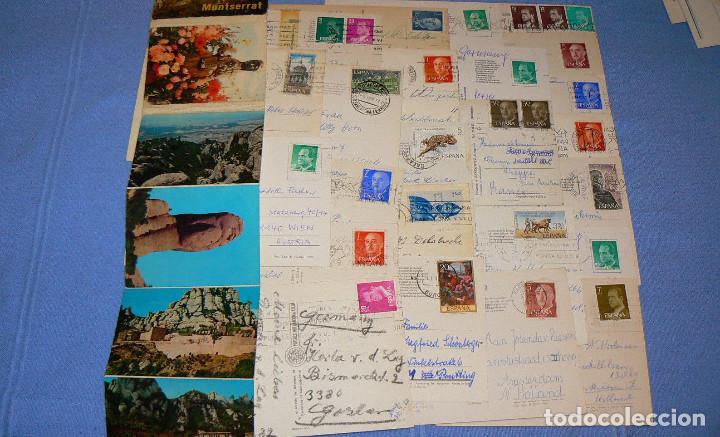 Postales: LOTE DE 77 POSTALES + 1 LIBRILLO DE MONTSERRAT - Foto 11 - 146136554