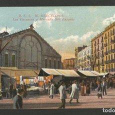 Postales: BARCELONA-LOS ENCANTES Y MERCADO DE SAN ANTONIO-R.S.A. 70-POSTAL ANTIGA-(55.873). Lote 146157338