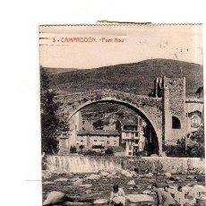 Postales: TARJETA POSTAL DE CAMPRODON, GERONA. PONT NOU. FOTOTIPIA THOMAS, BARCELONA.. Lote 146229502