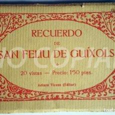 Postales: PACK 20 POSTALES ANTIGUAS DE SANT FELIU DE GUIXOLS. EDITOR: A. VICENCS. NUEVO. SIN USO.. Lote 146297826