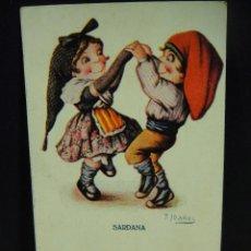 Postales: SARDANA , POSTAL ILUSTRADA POR J.IBAÑEZ - EDICIONES VICTORI , COLL SALIETI. Lote 146312818