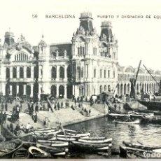 Postales: TARJETA POSTAL 59 - BARCELONA , PUERTO Y DESPACHO DE EQUIPAJES, SIN CIRCULAR , MISSÈ HS. BARNA. Lote 146426278
