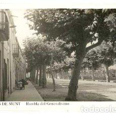 Postales: BARCELONA ARENYS DE MUNT RAMBLA DEL GENERALISIMO FOTO CABALLÉ. POSTAL FOTOGRÁFICA, CIRCULADA. Lote 146442922