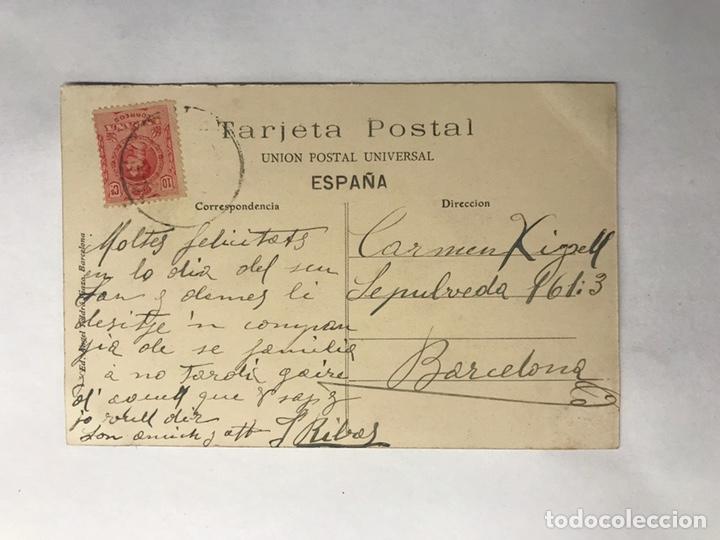 Postales: VENDRELL (Tarragona) Postal No.1239, Estación del Ferró-Carril. Edita: A.T.V. (a.1912) - Foto 2 - 146603785