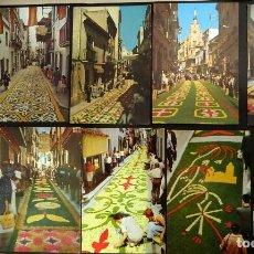 Postales: COLECCIÓN DE 10 POSTALES DE LAS ALFOMBRAS DE FLORES DEL CORPUS DE SITGES. Lote 146637710