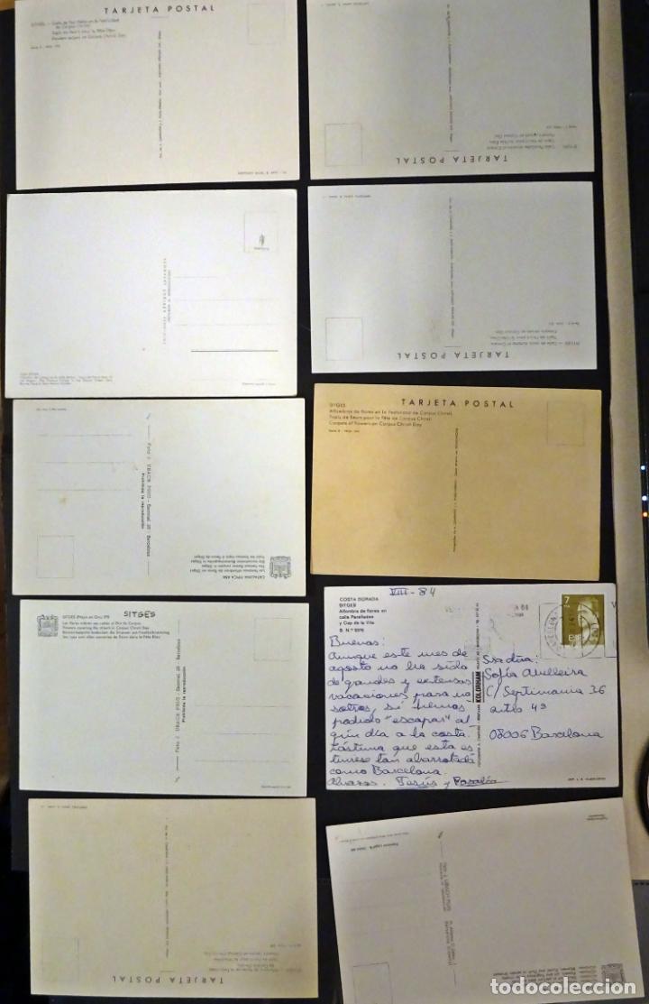Postales: Colección de 10 postales de las alfombras de flores del Corpus de Sitges - Foto 2 - 146637710