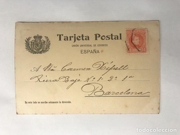 Postales: RIPOLL (Gerona) Postal. ANIMADA . Monasterio de Santa María. Edita: Tarjeta Postal (h.1904?) - Foto 2 - 146654500