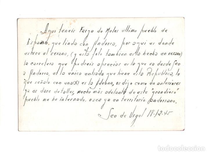 Postales: LA FARGA DE MOLES (LLEIDA) 1945 POSTAL FOTOGRÁFICA. - Foto 2 - 146788274