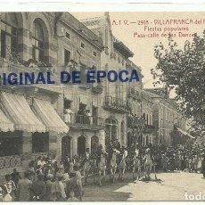 Postales: (PS-59182)POSTAL DE VILAFRANCA DEL PANADES-FIESTAS POPULARES PASA-CALLE DE LAS DANZAS.A.T.V.2918. Lote 146923554
