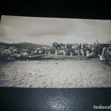 Postales: SAN FELIU DE GUIXOLS GERONA RORCUAL VARADO EN PLAYA POSTAL FOTOGRAFICA MUR FOTOGRAFO AÑO 1912. Lote 146976378