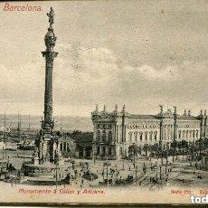 Postales: EDICIÓN A.T.V.-RECUERDO DE BARCELONA-MONUMENTO A COLÓN Y ADUANA SERIE 770-12 MINI POSTALES-MUY RARA. Lote 147472898