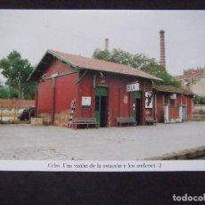 Postales: GERONA-D11-REPRODUCCION-135X95MM-HISTORIA DE LOS FERROCARRILES-CELRA-ESTACION. Lote 147485230