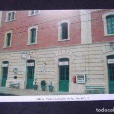 Postales: GERONA-D11-REPRODUCCION-135X95MM-HISTORIA DE LOS FERROCARRILES-CALDAS-ESTACION. Lote 147485554