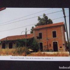 Postales: GERONA-D11-REPRODUCCION-135X95MM-HISTORIA DE LOS FERROCARRILES-SANT JORDI DESVALLS-ESTACION. Lote 147485694