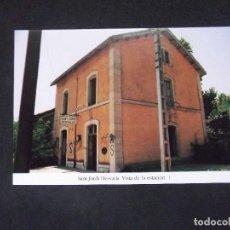 Postales: GERONA-D11-REPRODUCCION-135X95MM-HISTORIA DE LOS FERROCARRILES-SANT JORDI DESVALLS-ESTACION. Lote 147485766