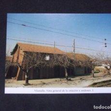 Postales: GERONA-D11-REPRODUCCION-135X95MM-HISTORIA DE LOS FERROCARRILES-VILAMALLA-ESTACION. Lote 147485862