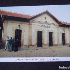 Postales: GERONA-D11-REPRODUCCION-135X95MM-HISTORIA DE LOS FERROCARRILES-CASSA DE LA SELVA-ESTACION. Lote 147486110