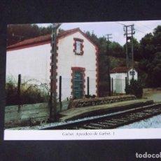 Postales: GERONA-D11-REPRODUCCION-135X95MM-HISTORIA DE LOS FERROCARRILES-GARBET-APEADERO. Lote 147486214