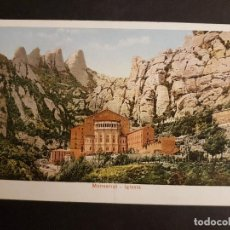 Postales: BARCELONA MONTSERRAT IGLESIA ED. PZ. Lote 147518634