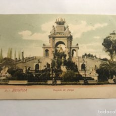 Postales: BARCELONA. POSTAL NO.7, CASCADA DEL PARQUE. EDITA: ANTONIO LÓPEZ (H.1910?). Lote 147537485