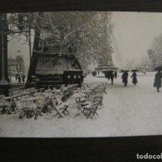 Postales: BARCELONA-NEVADA EN BARCELONA-POSTAL FOTOGRAFICA ANTIGA-(56.232). Lote 147909770