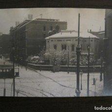 Postales: BARCELONA-NEVADA EN BARCELONA-TRANVIA-ENERO 1914-POSTAL FOTOGRAFICA ANTIGA-(56.234). Lote 147910190