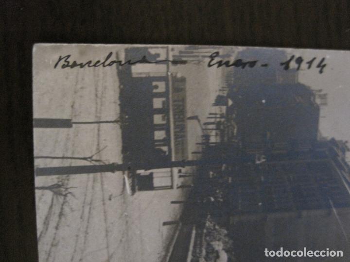 Postales: BARCELONA-NEVADA EN BARCELONA-TRANVIA-ENERO 1914-POSTAL FOTOGRAFICA ANTIGA-(56.234) - Foto 3 - 147910190