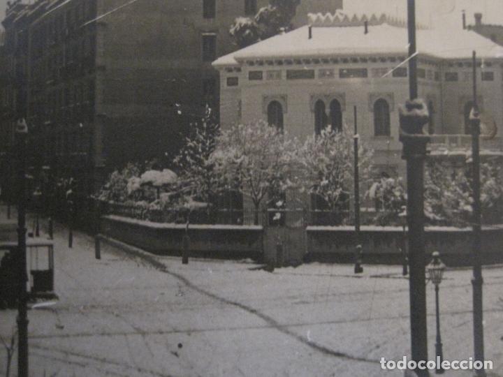 Postales: BARCELONA-NEVADA EN BARCELONA-TRANVIA-ENERO 1914-POSTAL FOTOGRAFICA ANTIGA-(56.234) - Foto 4 - 147910190