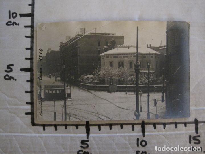 Postales: BARCELONA-NEVADA EN BARCELONA-TRANVIA-ENERO 1914-POSTAL FOTOGRAFICA ANTIGA-(56.234) - Foto 6 - 147910190