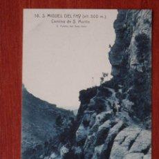 Cartes Postales: CATALUÑA BARCELONA SAN MIGUEL DEL FAY CAMINO SAN MARTIN POSTAL ANTIGUA. Lote 147968196