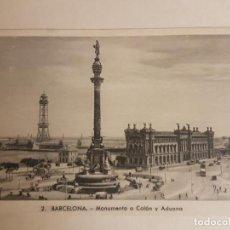 Postales: MONUMENTO A COLON Y ADUANA, BARCELONA. Lote 147998630