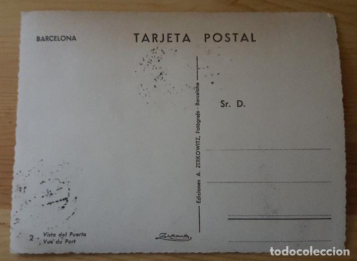 Postales: Barcelona vista del Puerto Nº2 - Ed. A. Zerkowitz - Sellos República Matasellos Barcelona 1936 - Foto 2 - 148107598