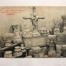Postales: PERELADA (GERONA) POSTAL. ANIMADA NO.1355 CARMEN, COLECCIÓN CAPITELES, CRUZ Y SARCÓFAGOS. Lote 148221341