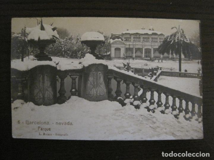 BARCELONA-NEVADA-PARQUE-FOTOGRAFICA ROISIN-6-POSTAL ANTIGA-(56.407) (Postales - España - Cataluña Antigua (hasta 1939))