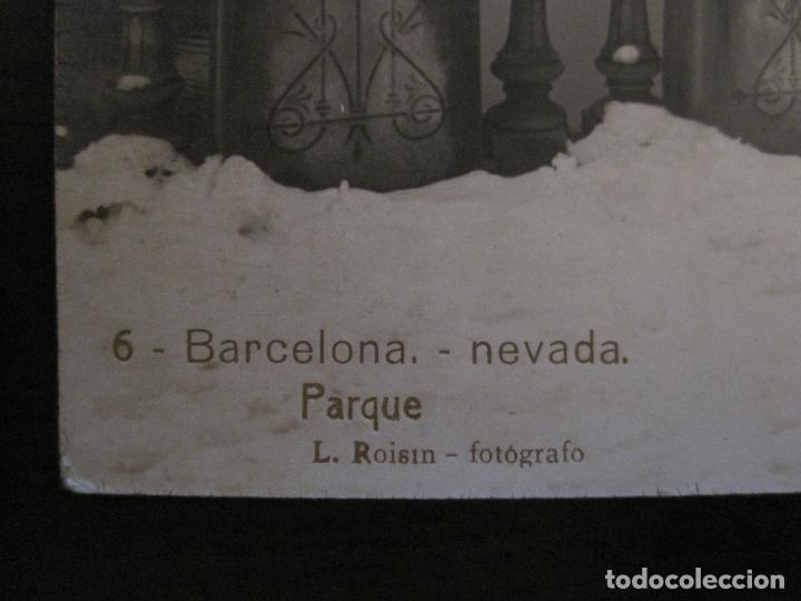 Postales: BARCELONA-NEVADA-PARQUE-FOTOGRAFICA ROISIN-6-POSTAL ANTIGA-(56.407) - Foto 3 - 148356146