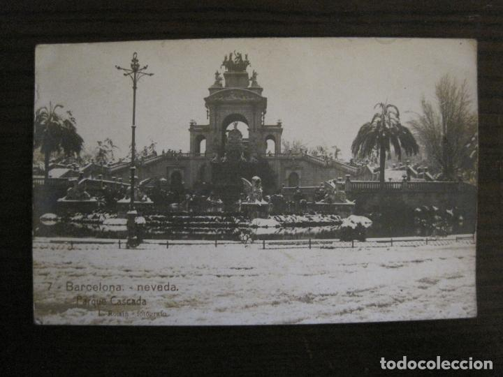 BARCELONA-NEVADA-PARQUE-FOTOGRAFICA ROISIN-6-POSTAL ANTIGA-(56.408) (Postales - España - Cataluña Antigua (hasta 1939))