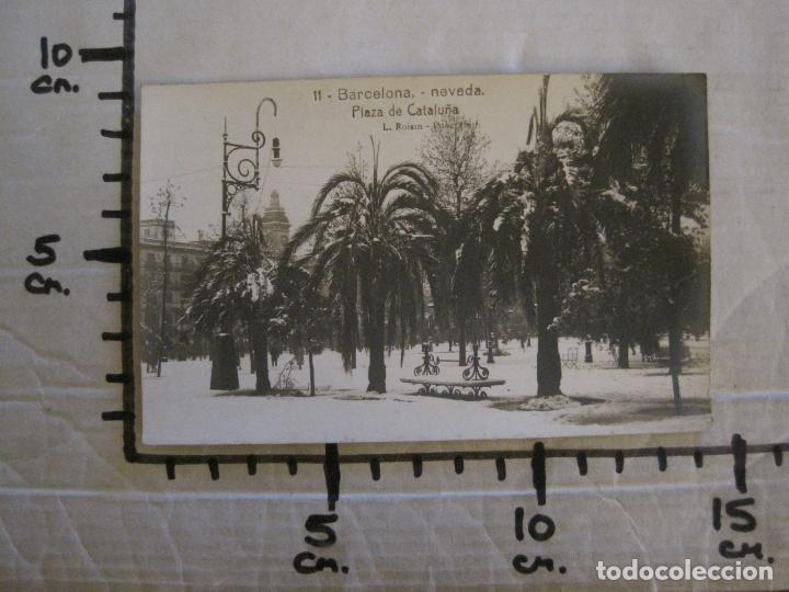 Postales: BARCELONA-NEVADA-PLAZA CATALUÑA-FOTOGRAFICA ROISIN-11-POSTAL ANTIGA-(56.410) - Foto 6 - 148356630