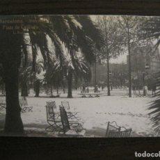 Postales: BARCELONA-NEVADA-PLAZA CATALUÑA-FOTOGRAFICA ROISIN-14-POSTAL ANTIGA-(56.412). Lote 148356850