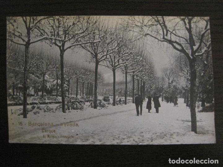 BARCELONA-NEVADA-PARQUE-FOTOGRAFICA ROISIN-16-POSTAL ANTIGA-(56.413) (Postales - España - Cataluña Antigua (hasta 1939))