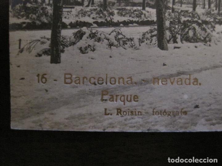 Postales: BARCELONA-NEVADA-PARQUE-FOTOGRAFICA ROISIN-16-POSTAL ANTIGA-(56.413) - Foto 2 - 148357074