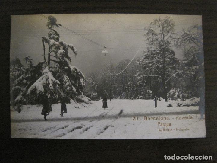 BARCELONA-NEVADA-PARQUE-FOTOGRAFICA ROISIN-20-POSTAL ANTIGA-(56.415) (Postales - España - Cataluña Antigua (hasta 1939))