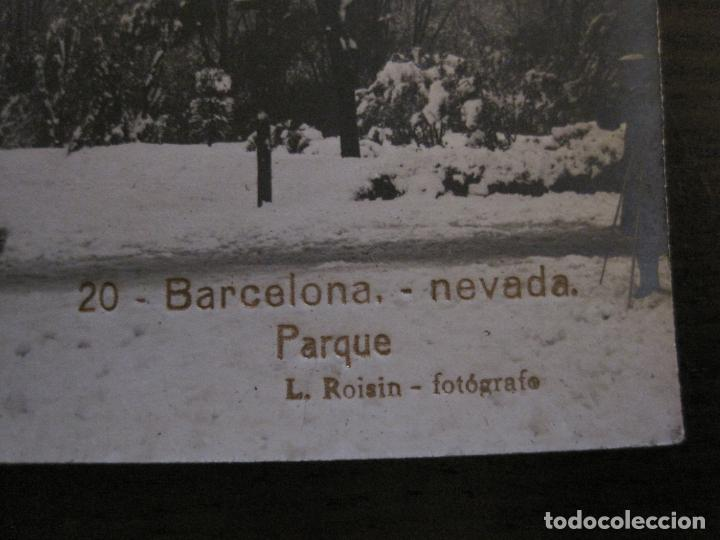 Postales: BARCELONA-NEVADA-PARQUE-FOTOGRAFICA ROISIN-20-POSTAL ANTIGA-(56.415) - Foto 2 - 148357402