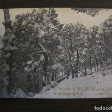 Postales: BARCELONA-EXCURSION TIBIDABO-DIA DE LA NEVADA-1914-FOTOGRAFICA ROISIN-5-POSTAL ANTIGA-(56.416). Lote 148357638