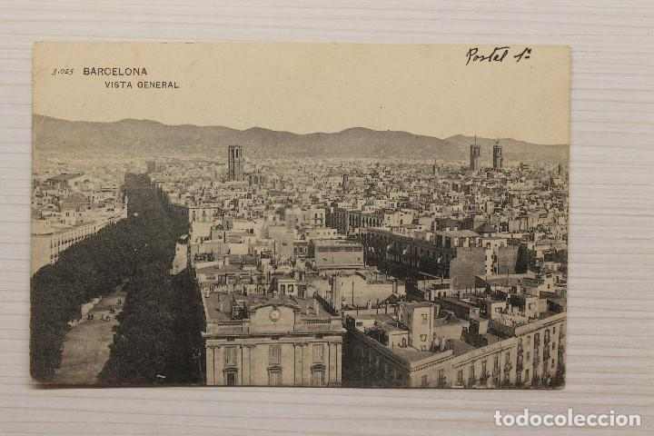 POSTAL BARCELONA VISTA GENERAL (Postales - España - Cataluña Antigua (hasta 1939))